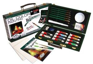 Royal Beginner Oil Painting Wooden Box Artist Set - 12 Pack