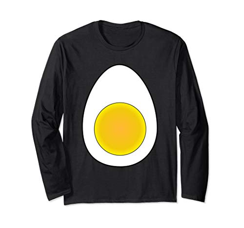 Deviled Egg Halloween Costume Shirt Wear Accessory Horn Tail Long Sleeve T-Shirt]()