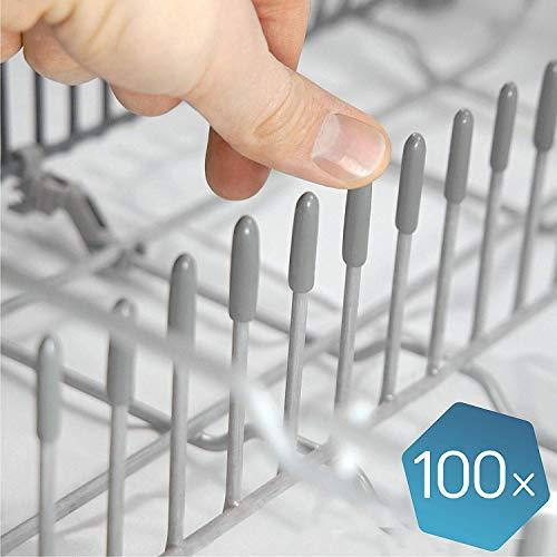 """🥇 Las tapas lavavajillas originales de Plemont® [pack de 100] – Tapas accesorios universal de lavavajillas """"Made in Germany"""" – repuestos de protección extra fuerte contra la oxidación"""