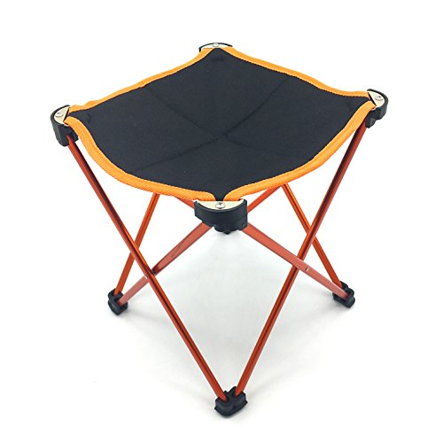 Silfrae Camping Stool Outdoor Folding Stool Portable Travel Chair with Carry Bag for Fishing Hiking Camping