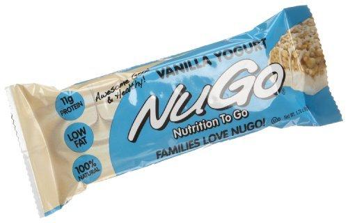 NuGo All-Natural Nutrition Bar, Vanilla Yogurt, 1.76-Ounce Bars (Pack of 3 (15 bars each))