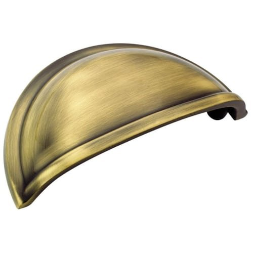 Amerock Allison BP53010EB 3-Inch Metal Finishes Cabinet Cup Pull, Elegant Brass - Metal Finishes Cup Pull