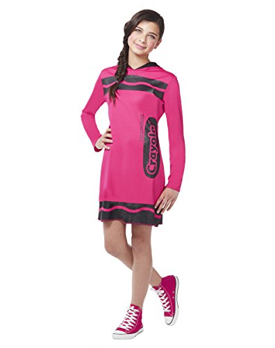 Spirit Halloween Tween Sparkle-Print Hooded Crayon Costume -