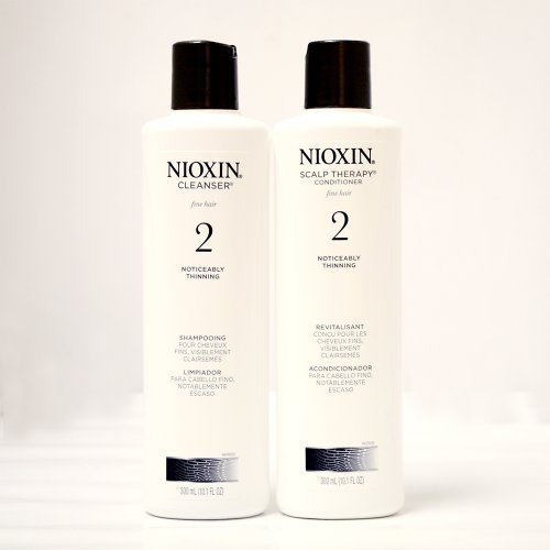 Hair Care System (Nioxin System 2 Cleanser & Scalp Therapy for Fine Thinning Hair Duo 10 oz)