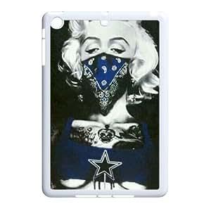 Ipad Mini 2D PersonDallas Cowboys Logozed Hard Back Durable Phone Case with Dallas Cowboys Logo Image
