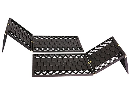 OFFROAD BOAR Foldable Auto Traction Mat Tire Grip Aid, Best Snow Chain Alternative(Black)