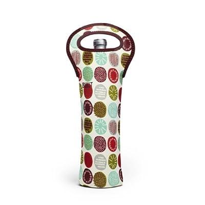 BUILT NY Original Designer Neoprene Wine/Water Bottle Tote 1-Bottle