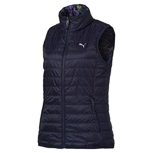 Puma Golf Women's 2019 Pwrwarm Reversible Vest, Peacoat, Large