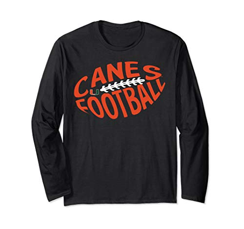 Miami Hurricanes Football Cloud Text Long Sleeve T-Shirt -