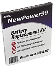 NewPower99 Battery Replacement Kit with Battery, Video Instructions and Tools for Garmin Nuvi 2595LMT