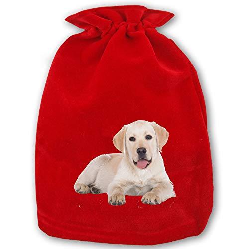 Christmas Gift Bag Golden Retriever Drawstring Storage Bag ()