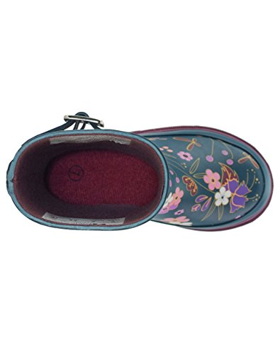 Oakiwear Kids Rubber Rain Boots, Midnight Floral, 4Y US Big Kid by Oakiwear (Image #8)