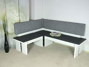 Moderna del Banco blanco asiento esquina comedor cocina melamina diseño de gran calidad)
