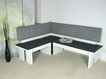 Eckbank weiß grau  moderne Eckbank weiss Sitzecke Esszimmer Küche Melamin design ...