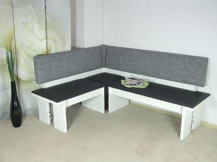 Moderna del Banco blanco asiento esquina comedor cocina melamina ...
