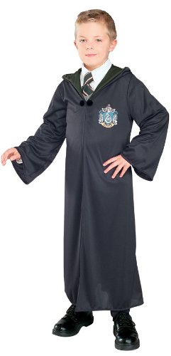 [Harry Potter And The Deathly Hallows Costume, Child's Robe With Slytherin Emblem Costume,Large] (Harry Potter Halloween Costumes Hermione)