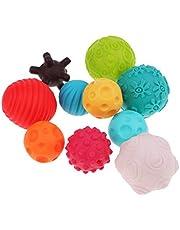 ROHSCE Super Durable 10 Pack Sensory Balls for baby kids,Massage Soft Textured Set