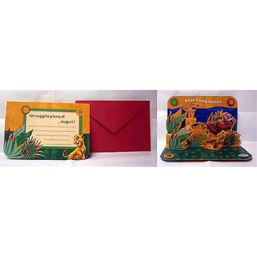 Biglietto auguri 3D Disney Re Leone Simba Buon Compleanno 17, 5x11 cm 01 Editor