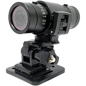 CooleedTEK Mini Sports Camera FHD 1080P Action Waterproof Video Camera Mini Metal Helmet Camera Outdoor Sports Camcorder Head Cam Bullet DV Recorder Support 32GB TF Card for Climbing Skiing Riding etc