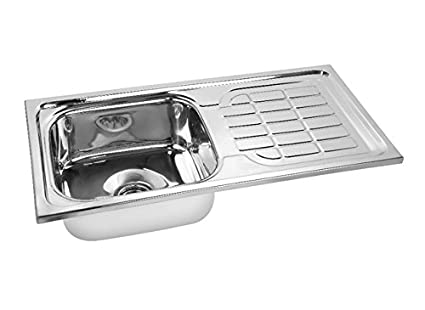 gargson stainless steel kitchen sink with drain board 37 x 18 x 8 rh amazon in stainless kitchen sink with drainboard double kitchen sink with drainboard