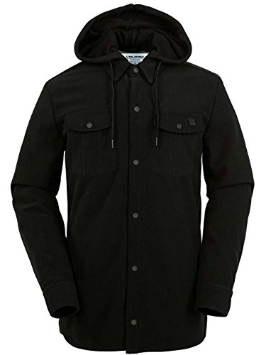 - Volcom Men's Field Bonded Flannel, Black, Medium
