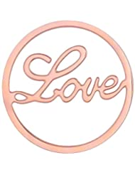 MS Koins Stainless Steel Love Coin Rose Gold Plated Fits Our Coin Locket System, 30mm Diameter