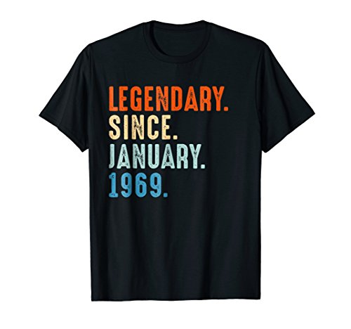 Born in January 1969 50th Birthday Gift 50 years old Shirt ()