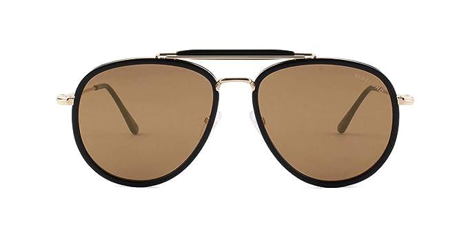 7dd80e975be6 Sunglasses Tom Ford FT 0666 Tripp 01G shiny black brown mirror   Amazon.co.uk  Clothing