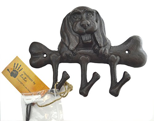 Lulu Decor, Cast Iron Dog & Bone Key Holder
