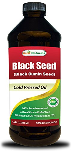 Best Naturals Black Seed Oil 16 OZ - Cold Pressed - Alcohol Free - Solvent Free - Black Cumin Seed Oil from 100% Genuine Nigella Sativa ()