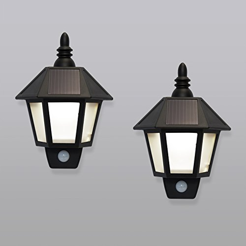2 Solar Rechargeable Security Wall Sconce Lights with High ...