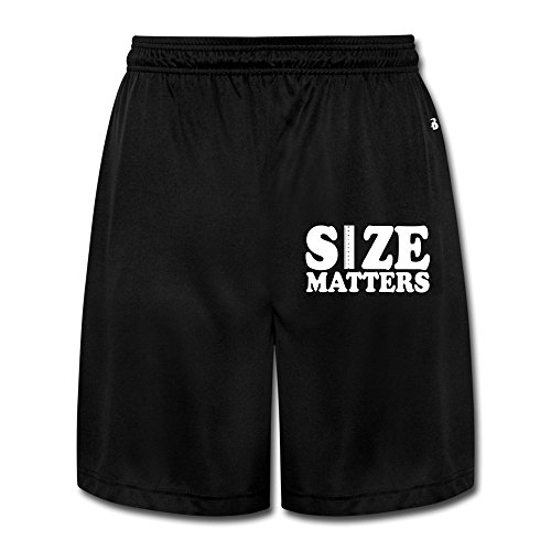 Runy Men's Size Matters Extender Rods Slim Sports Jogging Shorts With Pocket Black