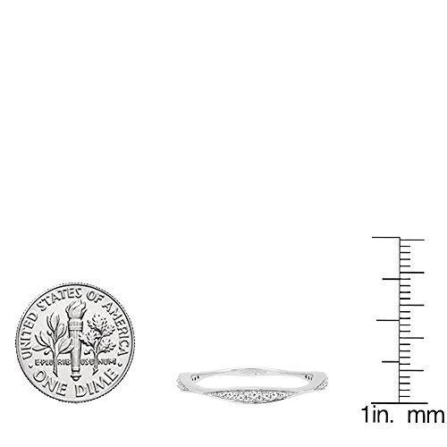 0.20 Carat (ctw) 14K White Gold Round Diamond Ladies Anniversary Wedding Band 1/5 CT (Size 8) by DazzlingRock Collection (Image #6)