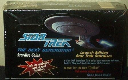 Star Trek the Next Generation Stardisc Coins Box -36 Count
