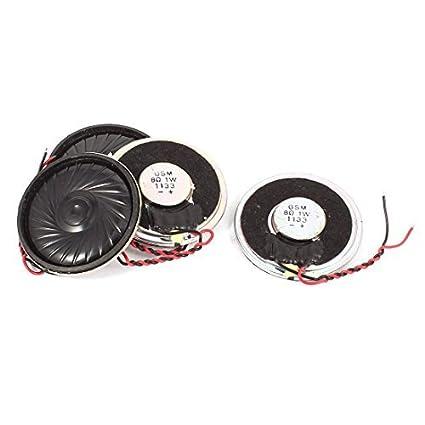 Amazon.com: eDealMax 4 PC a 40mm magnética 8 Ohm 1W Metal ...