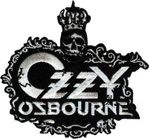 Ozzy Osbourne Skull Crown Logo Rock Roll Music Band Embroide