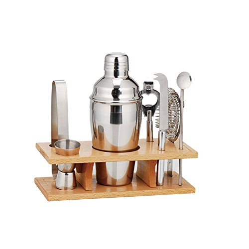 Murries Place Bar Set - 7 piece Bar Set with Stand - Perfect Housewarming Gift - Great Wedding Gift - 550 ml 18.5 oz. shaker.