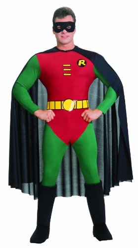 Adults Robin Costumes (Rubie's Costume Classic Batman Deluxe Robin, Red/Green, Large)