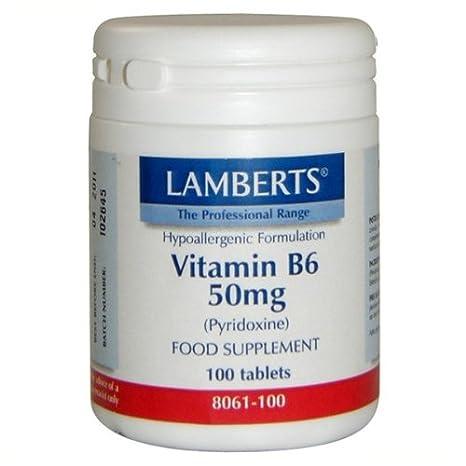LAMBERTS VITAMINA B6 50 mg. 100 comp.: Amazon.es: Salud y cuidado personal