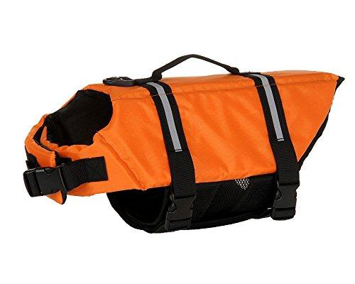 ONLY ONE YOU Schwimmweste für Hunde Schwimmhilfe für Hunde 7 Größen zur Auswahl (XXS - XXL) Orange (XXL)