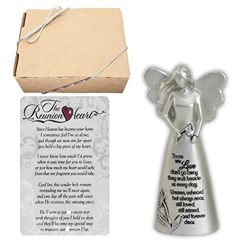 Bright Dog Inspiration Sympathy Memorial Gift Set | Metal Standing Angel and Prayer Card