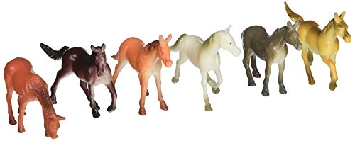Hard Plastic Figure - Century Novelty Hard Plastic 12 Horse Figures Toys, 2.5