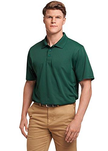 Russell Athletic Men's Dri-Power Performance Golf Polo, Dark Green, 4XL