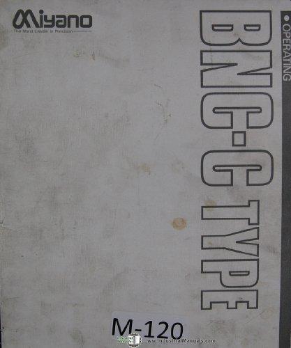 (Miyano Programming Operation BNC-C Type 88 03 CNC Machine Lathe Manual)