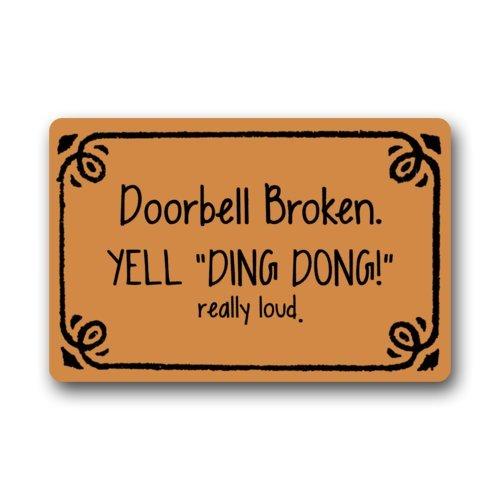 Doorbell Pattern Non Slip Outdoor Rectangle product image