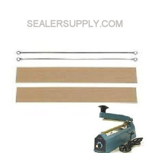"8"" Hand Impulse Sealer Repair Kit 2 Element 2 Cloth Set Spare Parts"