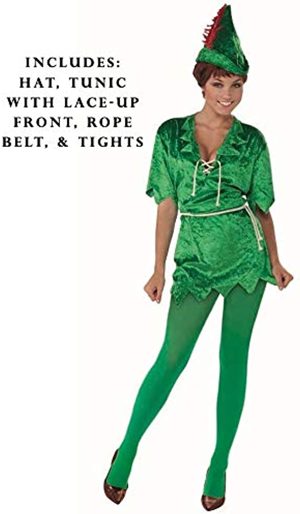 Forum Novelties Womens Peter Pan Costume, Green, Medium/Large ...