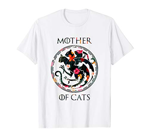 Mother of Cats Hot 2019 T-Shirt Gifts For Cat Lovers Tshirt