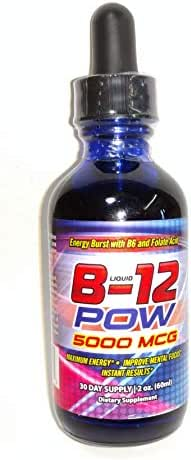 Liquid Vitamin b12 Methylcobalamin 5000 mcg b-12 Complex with folate and Vitamin b6 Biotin Dropper Bottle
