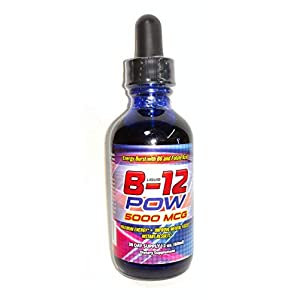 Liquid Vitamin b12 Methylcobalamin 5000 mcg b-12 Complex with folate and Vitamin b6…
